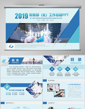 2019財務總監年度報表PPT模板