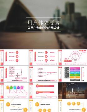 梦幻唯美互联网用户体验设计培训PPT模板幻灯片