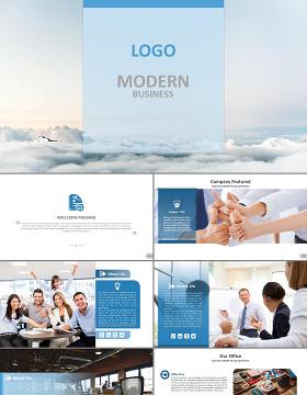简约流畅公司介绍商务通用PPT模板幻灯片