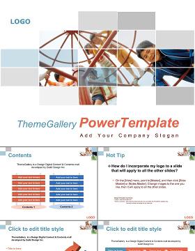 2018简约几何商务工作总结计划述职报告PPT模板