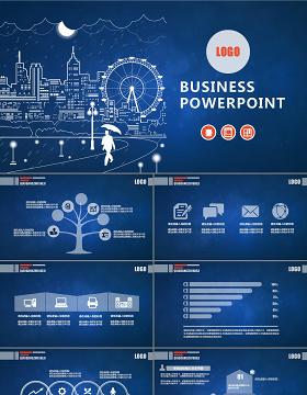 创意简约线条商务汇报工作报告述职计划通用ppt模板