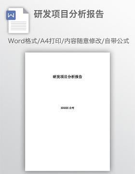 研发项目分析报告