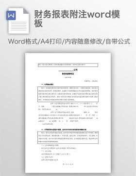 财务报表附注word模板