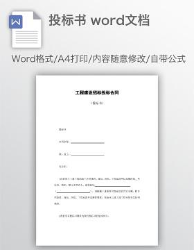 投标书 word文档