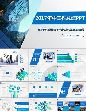 2018公司简介管理培训工作计划工作总结汇报商务通用PPT