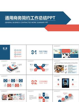 商务简约总结工作计划工作报告PPT模板
