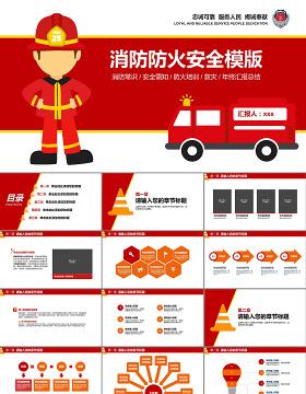 消防防火安全ppt模板