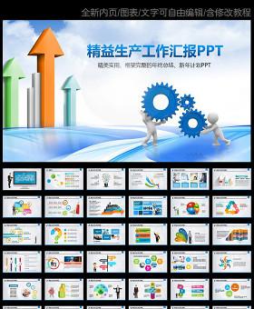 精益生产管理培训动态PPT模板