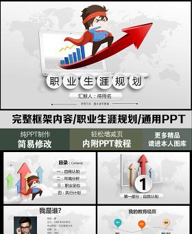 精美创意完整框架内容的职业生涯规划PPT