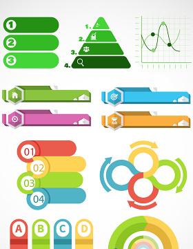ppt时尚标贴数据矢量图形图标-含多个ppt元素