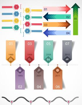 PPT数据素材-含多个ppt元素