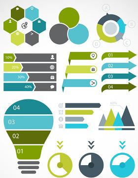 信息表PPT矢量图形图标-含多个ppt元素