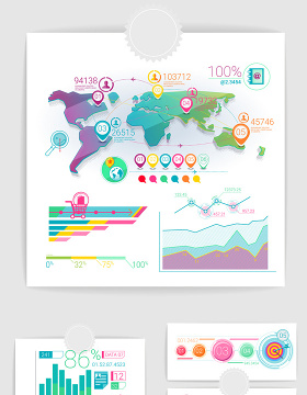 行业数据分析图表ppt素材