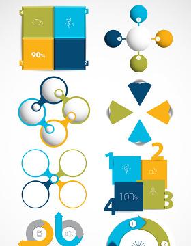 数据PPT素材矢量图形-含多个ppt元素