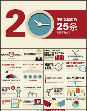 25条时间管理技巧PPT作品