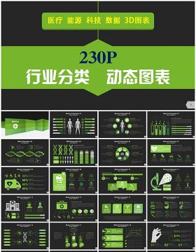 230P欧美行业业务PPT信息图表大全-含多个ppt元素