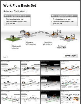 工作流程管理设置展示PPT图表