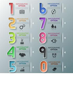 立体信息图表图片-含多个ppt元素