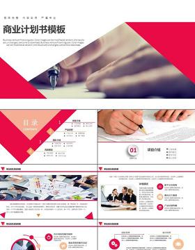 框架完整融资计划书商业计划路演活动PPT