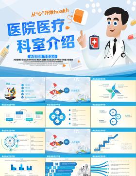 医院医疗卡通护理医生科室介绍工作汇报医院通用动态PPT模板