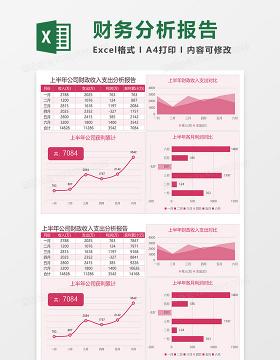 上半年公司财政收入支出分析报告