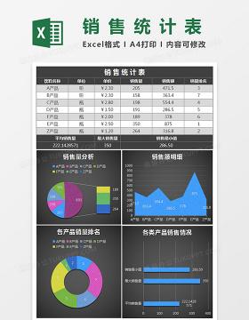 黑色销售统计表Excel模板