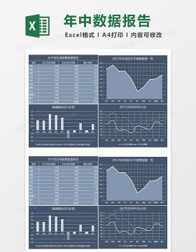 年中各区域数据报告