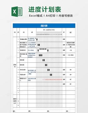 运营进度计划表格Excel表格