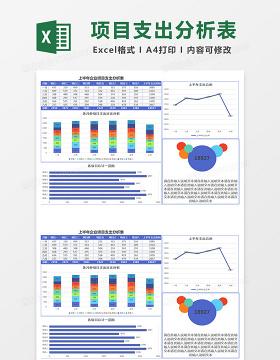 上半年企业项目支出分析表excel模板