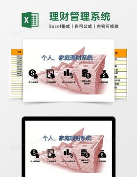 个人家庭理财Excel管理系统