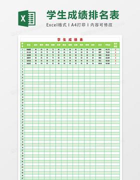 学生成绩统计表EXCEL表格模板