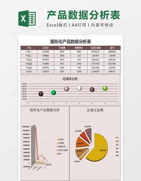 产品数据分析表excel表格模板