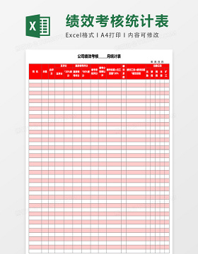 公司绩效考核表Excel表格模板