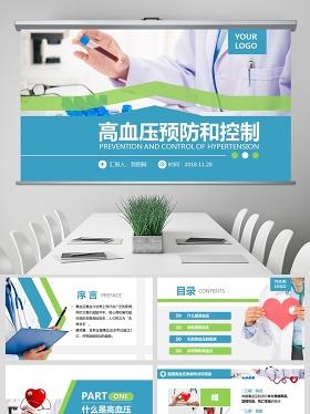 原创高血压预防医院医疗医生护士护理查房PPT