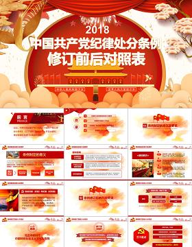 原创修订对照表中国共产党纪律处分条例党课PPT