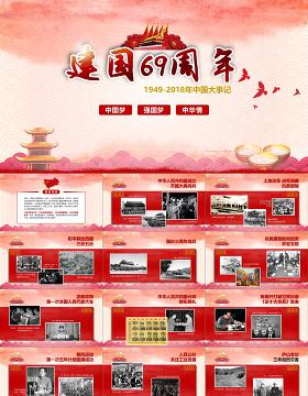 2019红色中国梦PPT模板