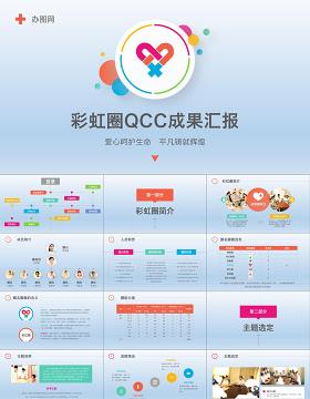 2019多彩护理品管圈QCC成果汇报PPT模板