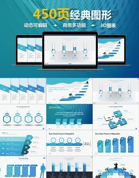 原創450頁數據分析商務通用信息圖表合集模板