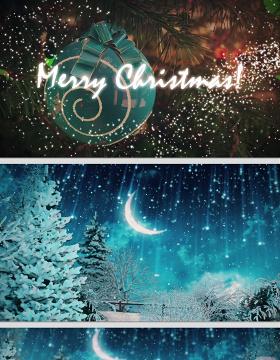 原创2019雪人圣诞节电子贺卡ppt模板-版权可商用