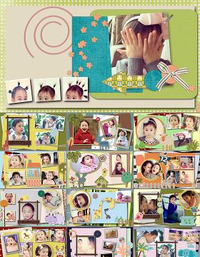 卡通儿童相册生日PPT模板幻灯片下载