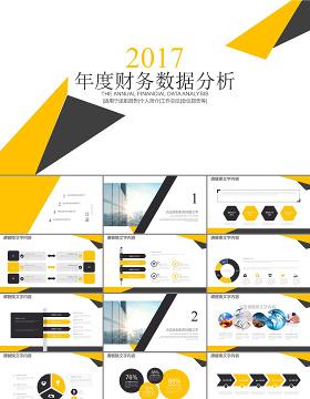白色年度财务分析案例分析PPT下载