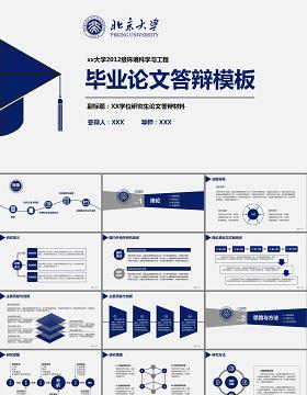 简洁实用型开题报告毕业论文答辩PPT模板幻灯片