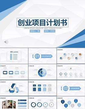 商业计划书营销策划书ppt模板幻灯片创业项目融资创业