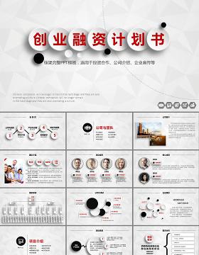创业融资商业策划计划书PPT模板幻灯片下载