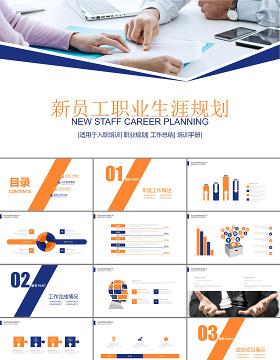 公司新员工职业生涯规划培训ppt模板幻灯片