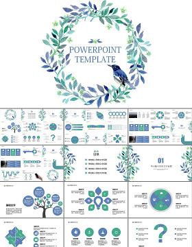 唯美花朵工作总结汇报工作计划述职报告PPT模板幻灯片