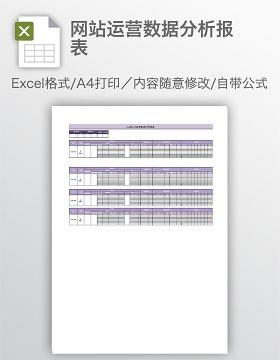 网站运营数据分析报表
