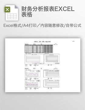 财务分析报表EXCEL表格