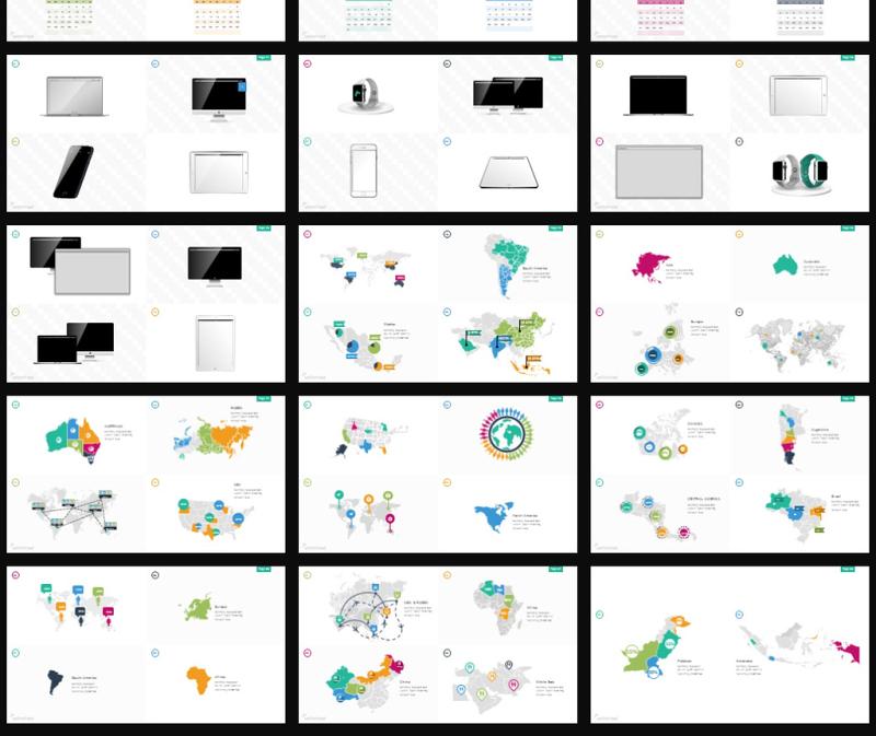创意纯手工绘制可编辑PPT图形图标-含多个ppt元素